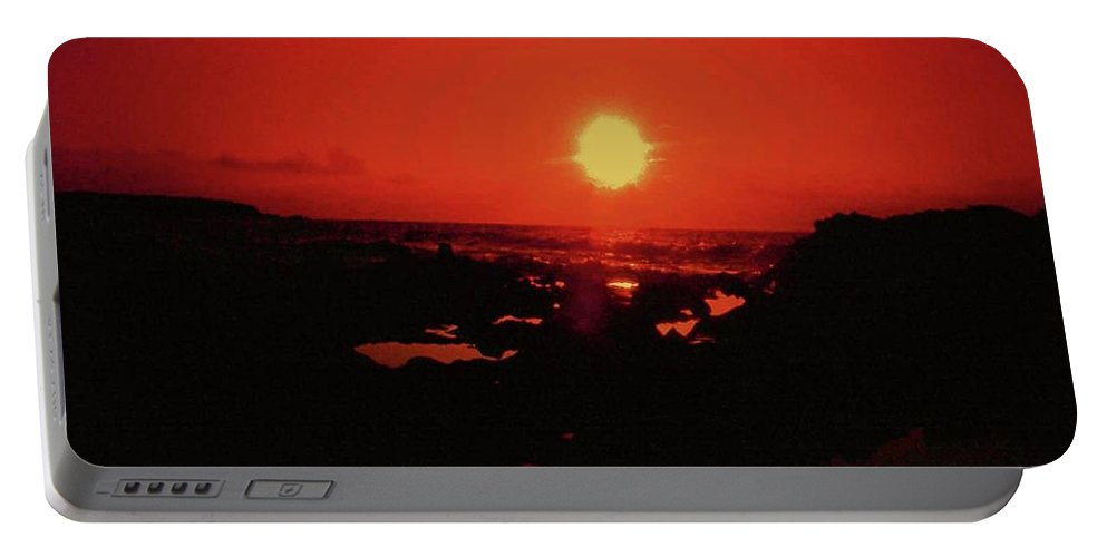 Sunset Portable Battery Charger featuring the photograph A Flair For Sunsets by Gary Wonning