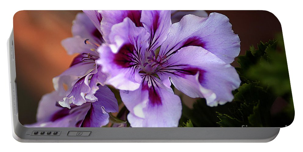 Clay Portable Battery Charger featuring the photograph A Floral For Jalapeno by Clayton Bruster
