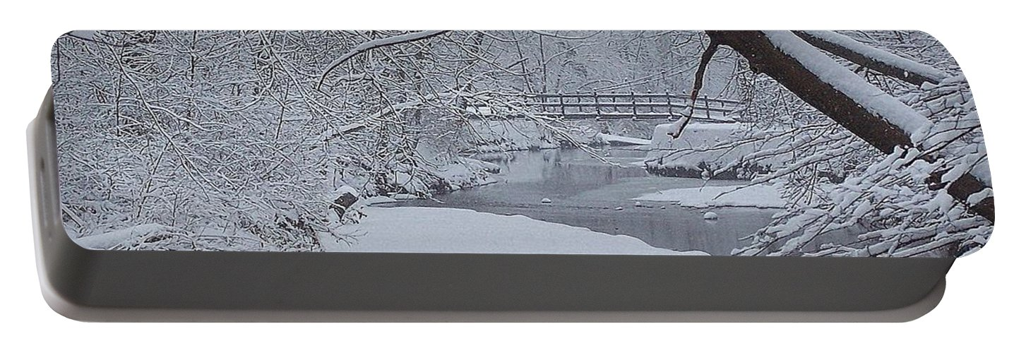 Snow Portable Battery Charger featuring the photograph A Forgotten Place by Frozen in Time Fine Art Photography