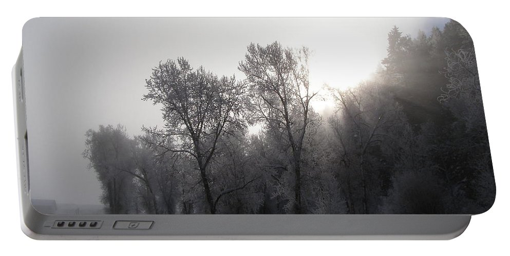 Winter Portable Battery Charger featuring the photograph A Frosty Morning by DeeLon Merritt