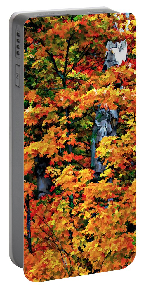 Trees Portable Battery Charger featuring the photograph A Giant Passes by Steve Harrington