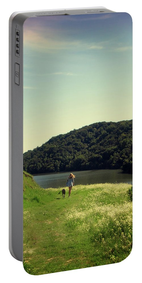 Landscape Portable Battery Charger featuring the photograph A Girl's Best Friend by Nancy Ingersoll