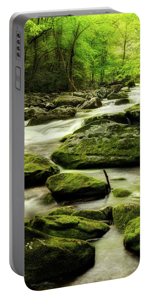 Tennessee Stream Portable Battery Charger featuring the photograph A Good Way To Start The Morning by Mike Eingle