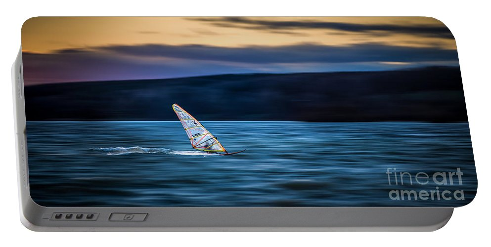 Ammersee Portable Battery Charger featuring the photograph A Great Way To End The Day by Hannes Cmarits