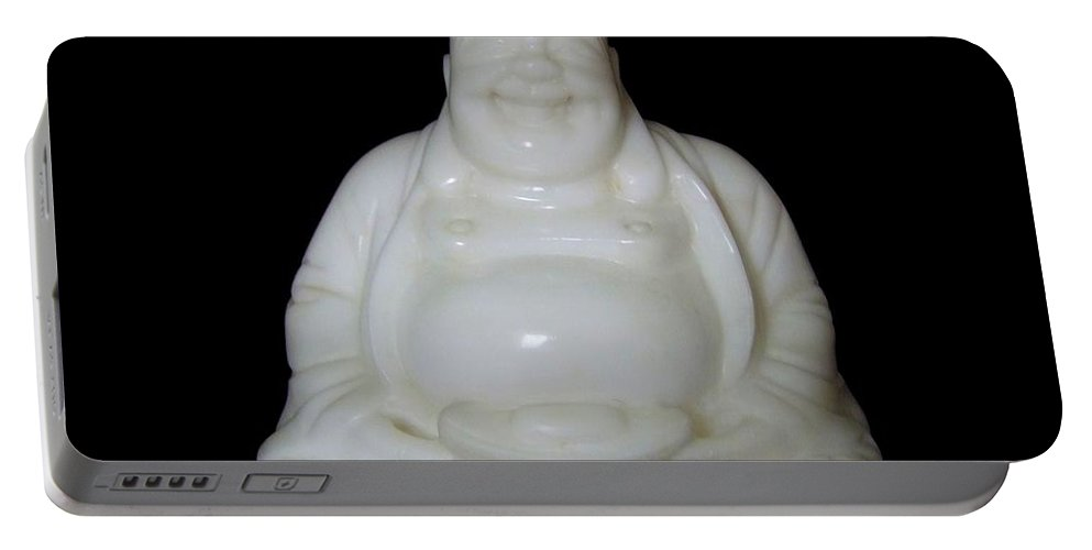 Mary Deal Portable Battery Charger featuring the photograph A Laughing Buddha Brings Good Luck by Mary Deal