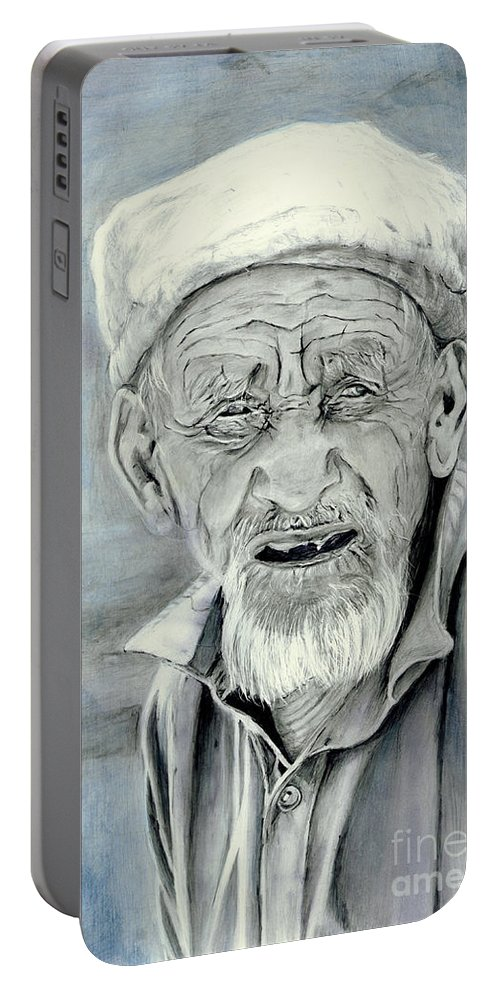 Figurative Art Portable Battery Charger featuring the painting A Life Time by Portraits By NC