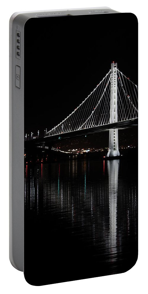 Bay Area Portable Battery Charger featuring the photograph A Light Amongst Darkness by Andrew Fairfield