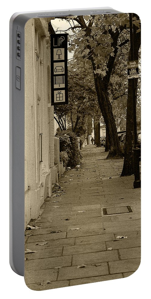 London Portable Battery Charger featuring the photograph A London Street I by Ayesha Lakes