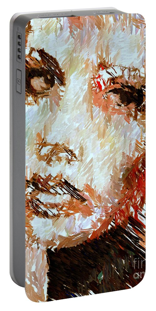 Rafael Salazar Portable Battery Charger featuring the digital art A Look At The Past by Rafael Salazar