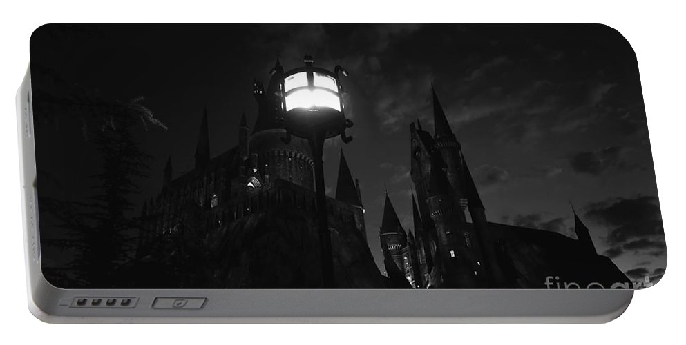 Medieval Castle Portable Battery Charger featuring the photograph A Medieval Nights Dream by David Lee Thompson