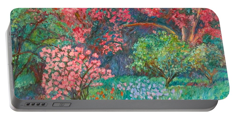 Landscape Portable Battery Charger featuring the painting A Memory by Kendall Kessler