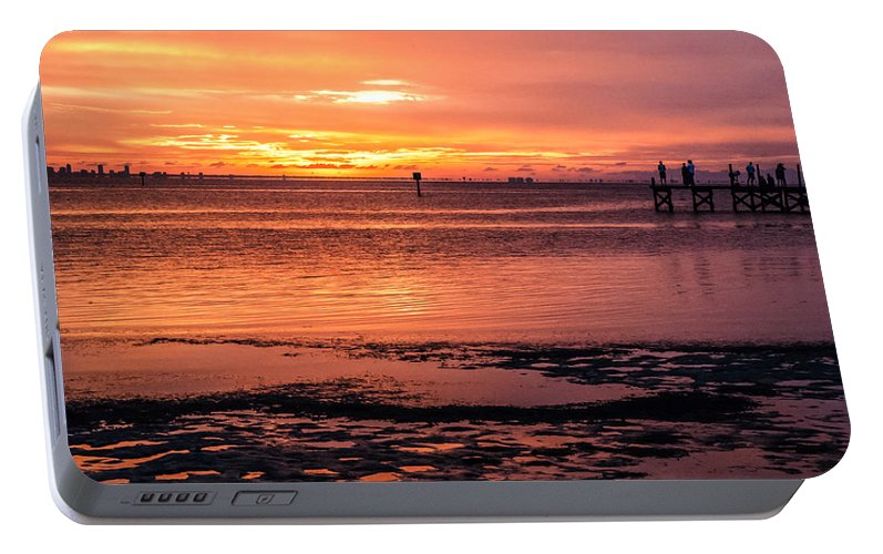 Sunset Portable Battery Charger featuring the photograph A Moment To Enjoy by Norman Johnson
