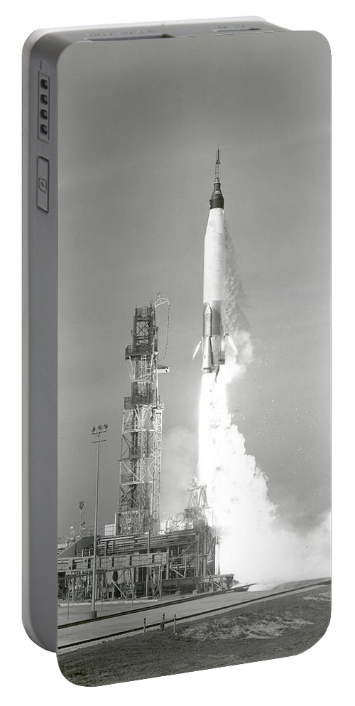 Mercury Portable Battery Charger featuring the photograph A Nasa Project Mercury Spacecraft by Stocktrek Images