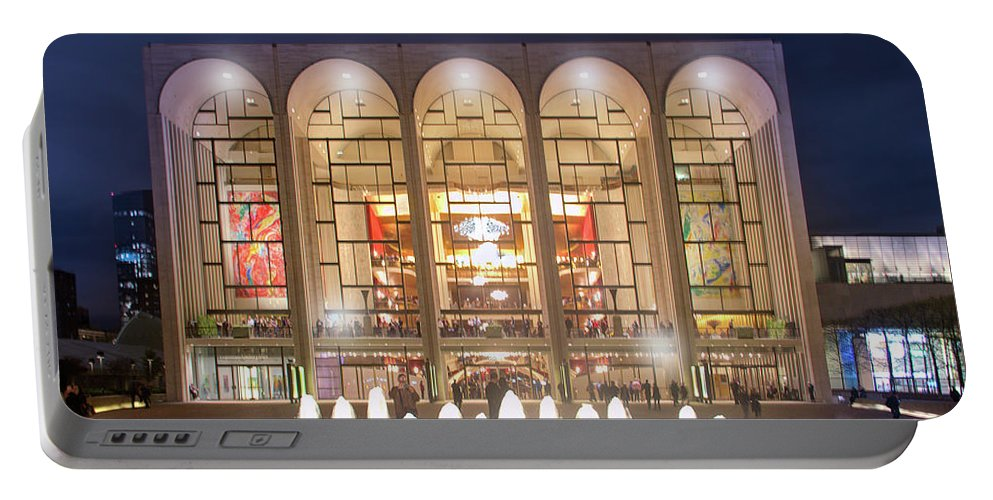 Lincoln Center Portable Battery Charger featuring the photograph A Night At Lincoln Center by Mark Andrew Thomas