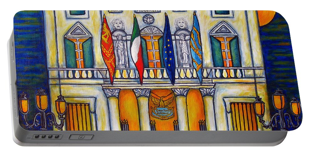 Theatre Portable Battery Charger featuring the painting A Night at the Fenice by Lisa Lorenz