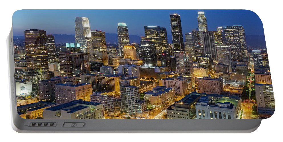 Los Angeles Portable Battery Charger featuring the photograph A Night In L A by Kelley King