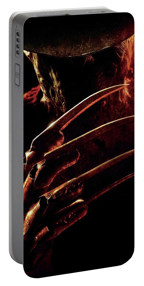 A Nightmare On Elm Street 2010 Portable Battery Charger featuring the digital art A Nightmare On Elm Street 2010 by Geek N Rock