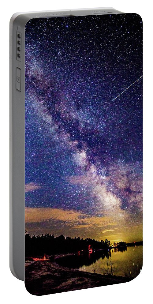 Milky Way Portable Battery Charger featuring the photograph A Northern View Of The Milky Way by J Thomas