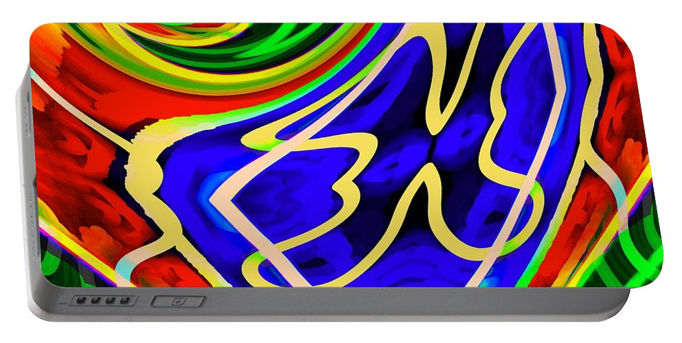 Abstract Portable Battery Charger featuring the digital art A Passing Thought by Cliff Wilson