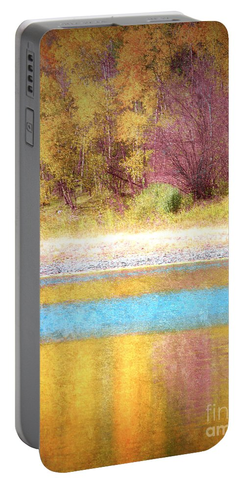 Pastel Portable Battery Charger featuring the photograph A Pastel Autumn by Tara Turner