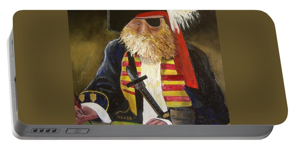 Pirate Portable Battery Charger featuring the painting A Pirate's Life by David Earl Tucker