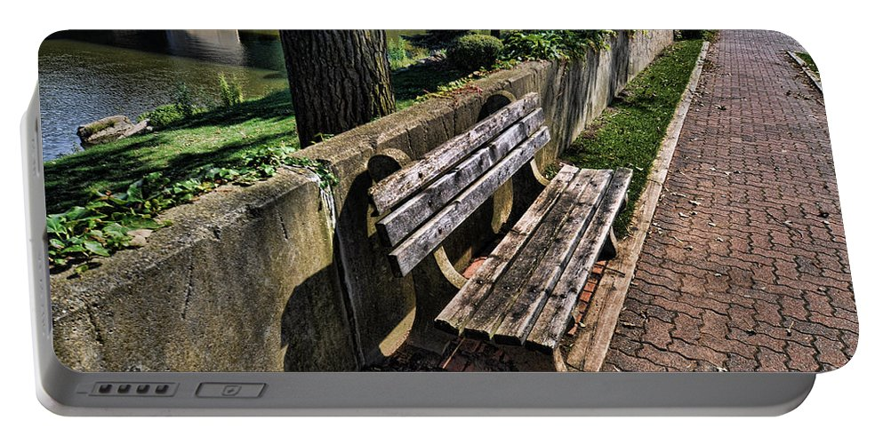 Bench Portable Battery Charger featuring the photograph A Place To Rest by Chris Fleming