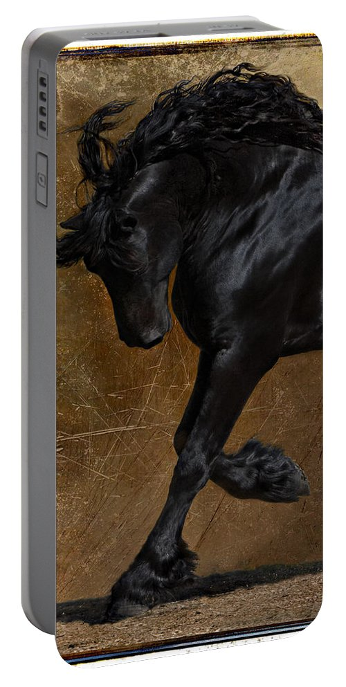 Horse Portable Battery Charger featuring the photograph A Regal Bow by Jean Hildebrant