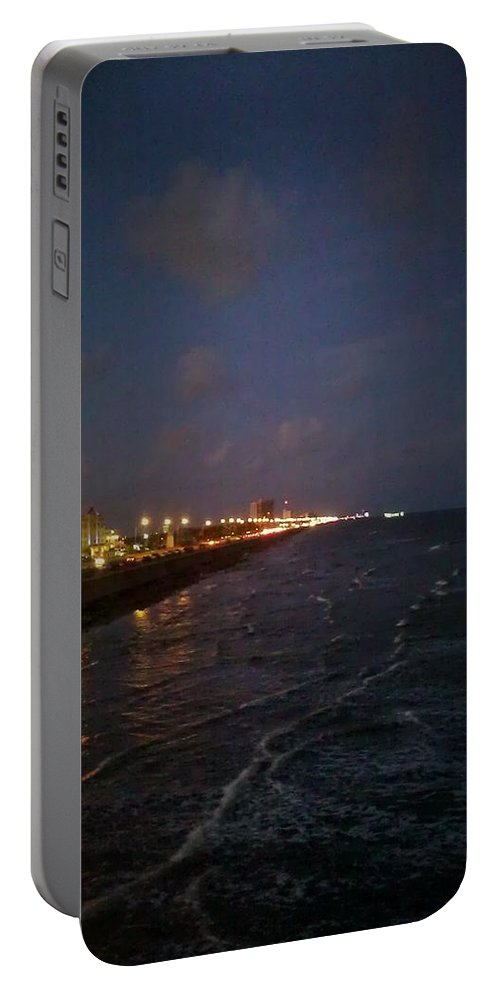 Galveston Portable Battery Charger featuring the photograph A Relaxing Night Begins by J L Hodges