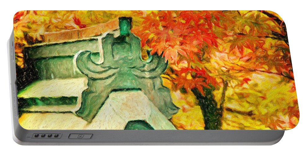 Impresso Pro Portable Battery Charger featuring the photograph A Return To Fall - Digital Painting by David Coleman
