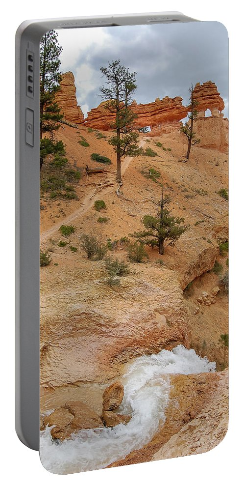 Bryce Canyon Portable Battery Charger featuring the photograph A River Runs Through It by Bob Cuthbert