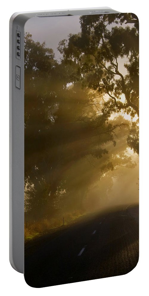 Highway Portable Battery Charger featuring the photograph A Road Less Traveled by Mike Dawson