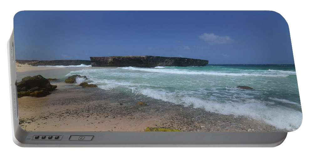 Boca Keto Portable Battery Charger featuring the photograph A Scenic Look At Boca Keto On The Island Of Aruba by DejaVu Designs
