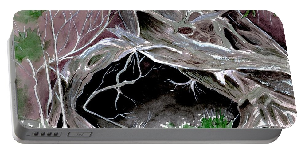Secret Portable Battery Charger featuring the painting A Secret Place by Brenda Owen