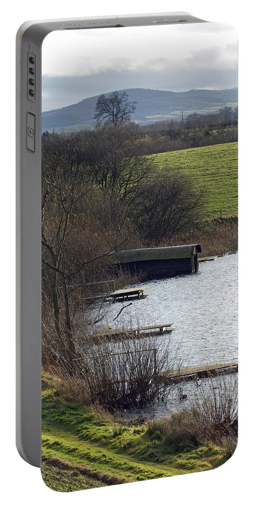 Shropshire Portable Battery Charger featuring the photograph A Shropshire Mere by Bob Kemp