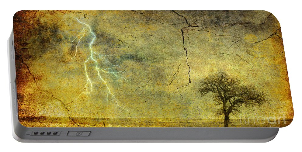 Bolt Portable Battery Charger featuring the photograph A Stormy Spring by Silvia Ganora