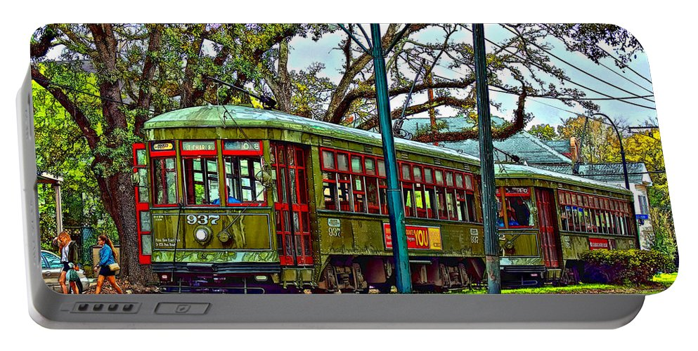 New Orleans Portable Battery Charger featuring the photograph A Streetcar Named St. Charles by Steve Harrington