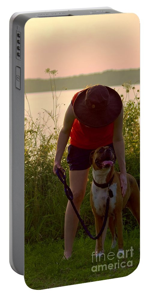 Pet Portable Battery Charger featuring the photograph A Summer Walk by Rachel Morrison