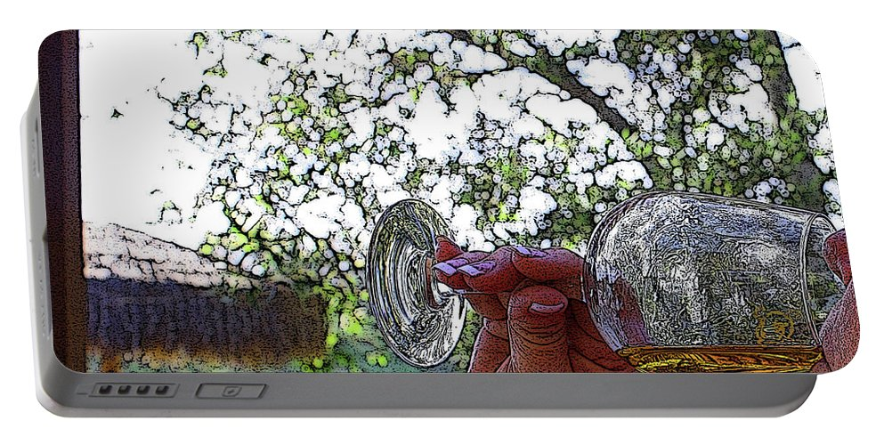 Wine Portable Battery Charger featuring the digital art A Taste Of Spring by Tommy Anderson