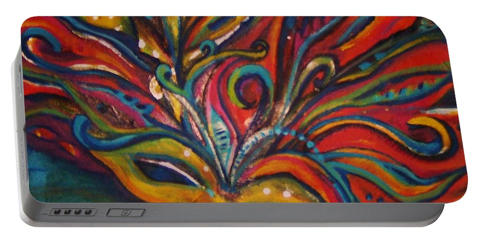 New Orleans Portable Battery Charger featuring the painting A Tear For New Orleans by Sidra Myers
