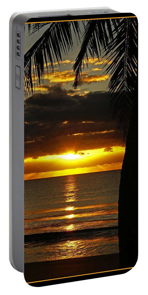 Landscape Portable Battery Charger featuring the photograph A Touch Of Paradise by Holly Kempe