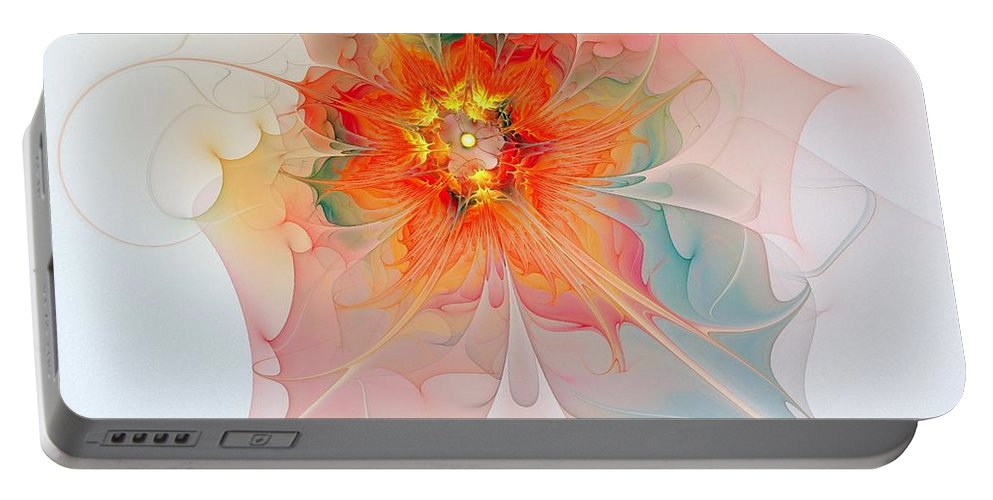 Digital Art Portable Battery Charger featuring the digital art A Touch Of Spring by Amanda Moore