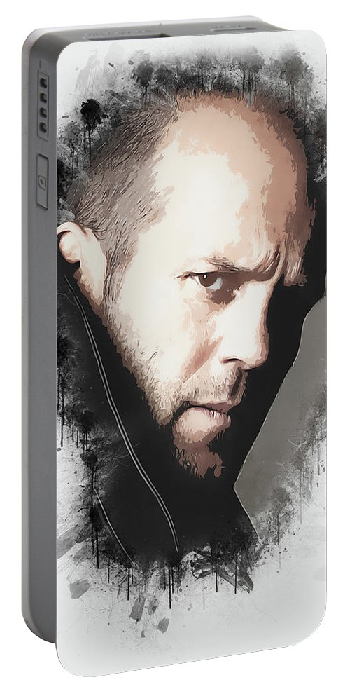Movies Portable Battery Charger featuring the digital art A Tribute to JASON STATHAM by Dusan Naumovski