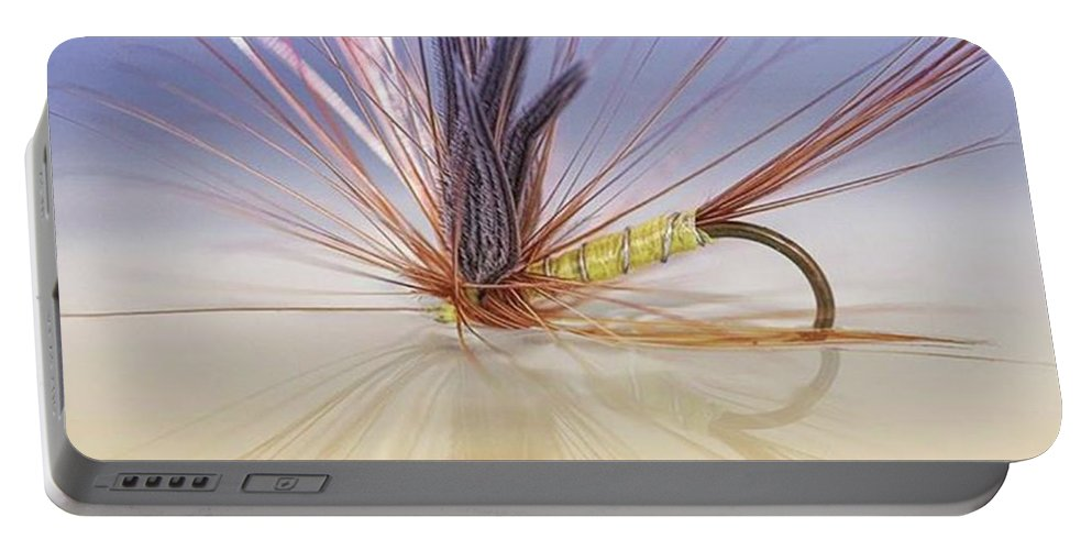 Greenwellsglory Portable Battery Charger featuring the photograph A Trout Fly (greenwell's Glory) by John Edwards