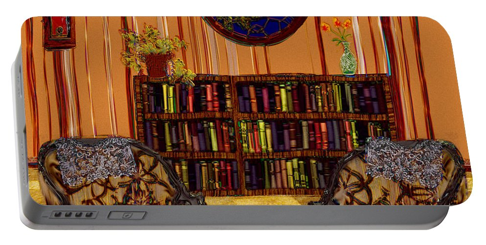 Folk Art Portable Battery Charger featuring the painting A Victorian Horror by RC DeWinter