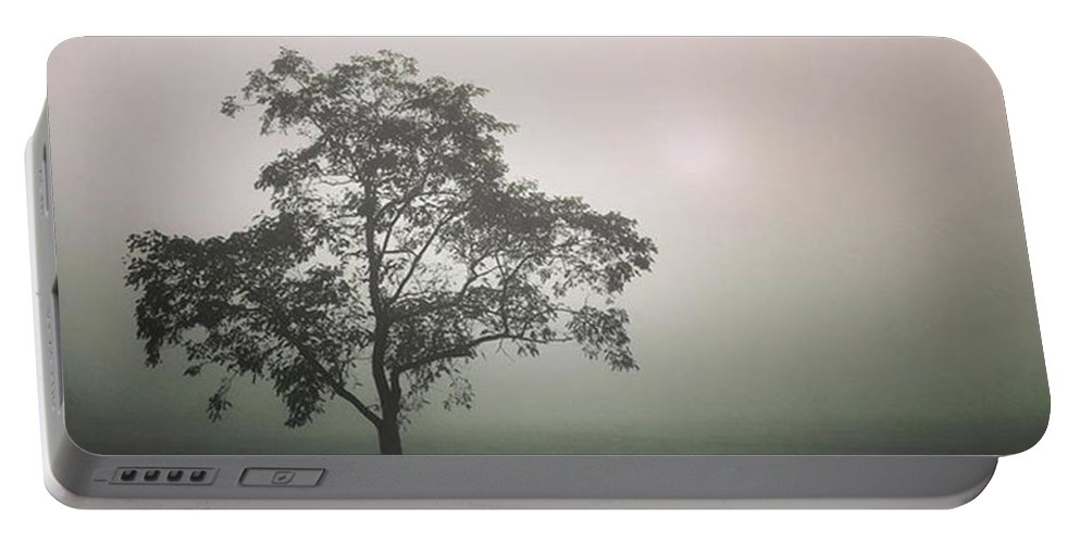 Fog Portable Battery Charger featuring the photograph A Walk Through The Clouds #fog #nuneaton by John Edwards