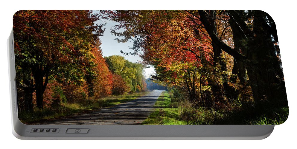 Photography Portable Battery Charger featuring the photograph A Warm Fall Day by Frederic A Reinecke
