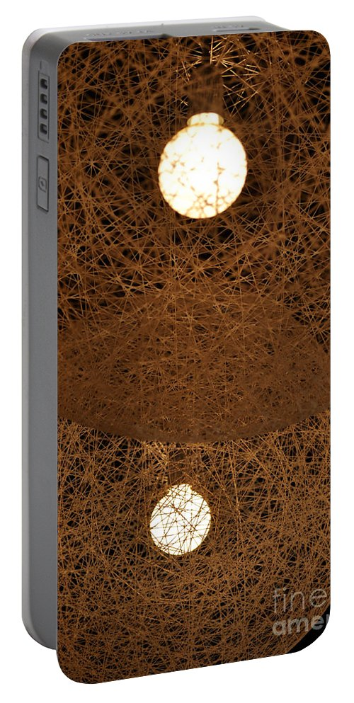 Clay Portable Battery Charger featuring the photograph A Web Of Photons by Clayton Bruster