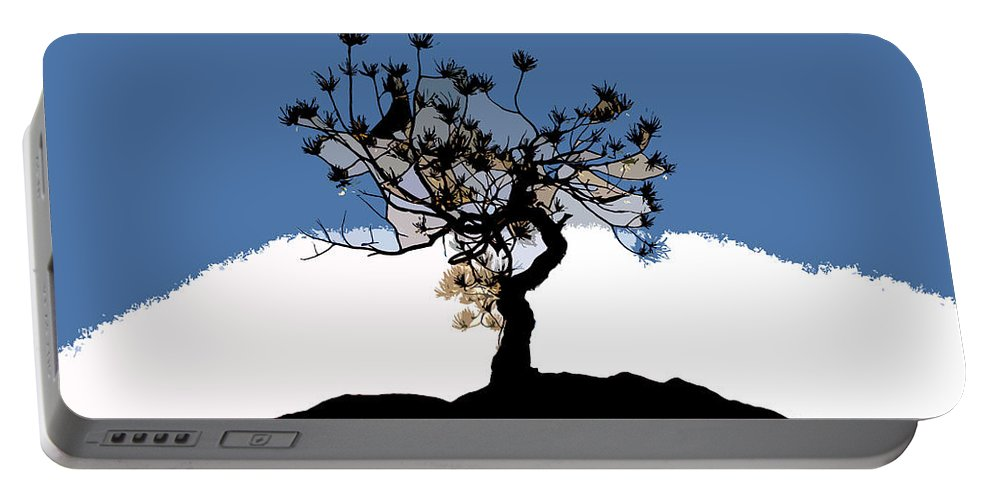 Tree Portable Battery Charger featuring the painting A Will To Live by David Lee Thompson