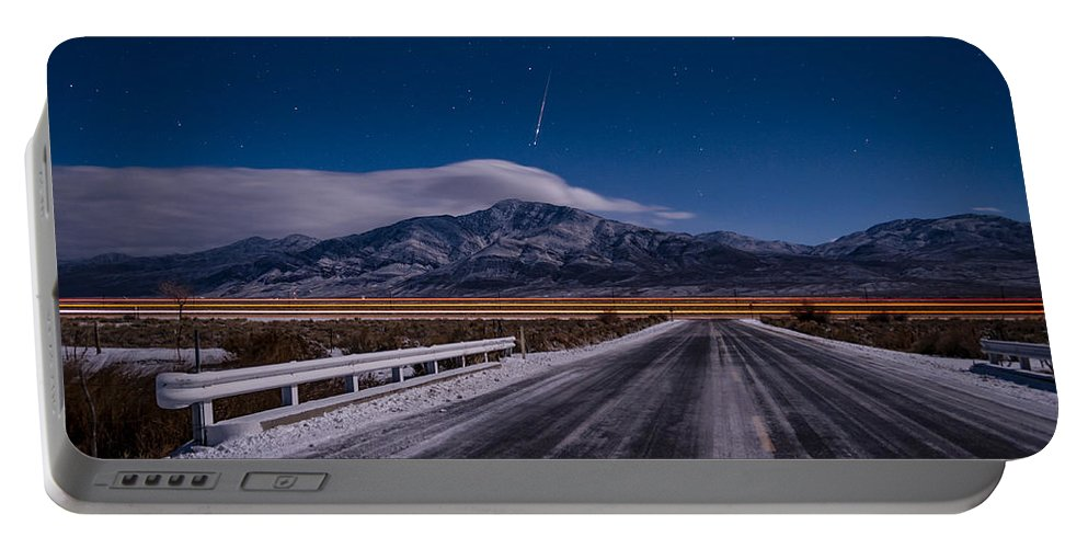 California Portable Battery Charger featuring the photograph A Winters Meteor by Cat Connor