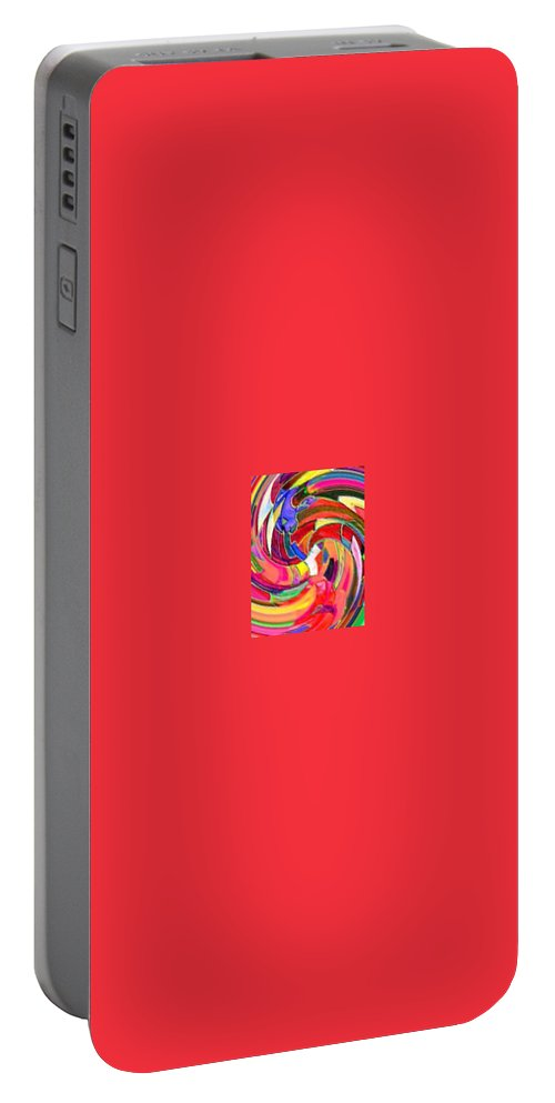 Digital Image Portable Battery Charger featuring the digital art AB by Andrew Johnson